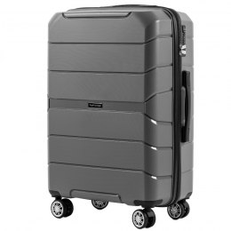 PP05, Middle size suitcase Wings M, Grey - Polipropyelene