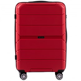 PP05, Middle size suitcase Wings M, Red - Polipropyelene