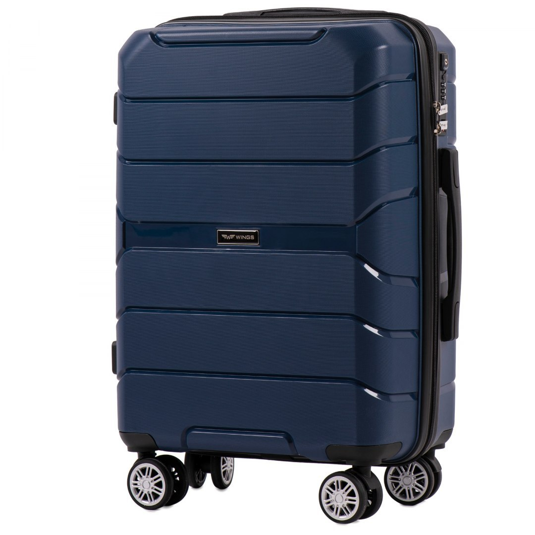 PP05, Cabin suitcase Wings S, Blue - Polipropylene