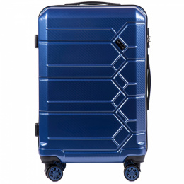 100 % POLICARBON / PC 185, Middle size suitcase Wings M, Royal blue / 5 years warranty