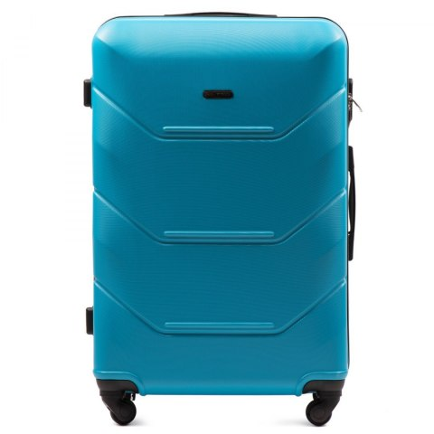 147, Large travel suitcase Wings L, Cyan
