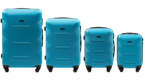 147, Luggage 4 sets (L,M,S,XS) Wings, Cyan