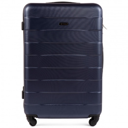 401, Large travel suitcase Wings L, Blue