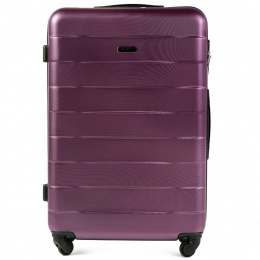 401, Large travel suitcase Wings L, Dark purple