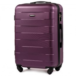 401, Middle size suitcase Wings M, Dark purple