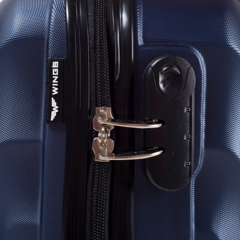 159, Middle size suitcase Wings M, Silver blue