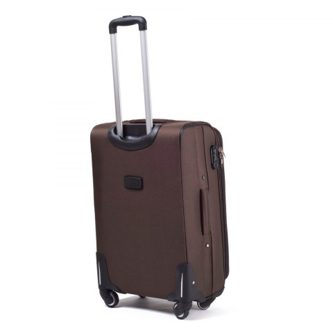 1706(4), Middle soft travel suitcase 4 wheels Wings M, Coffee