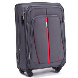 1706(4), Middle soft travel suitcase 4 wheels Wings M, Dark grey
