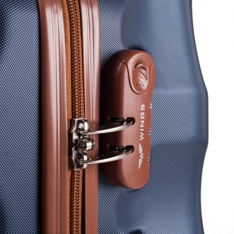 402, Large travel suitcase Wings L, Blue