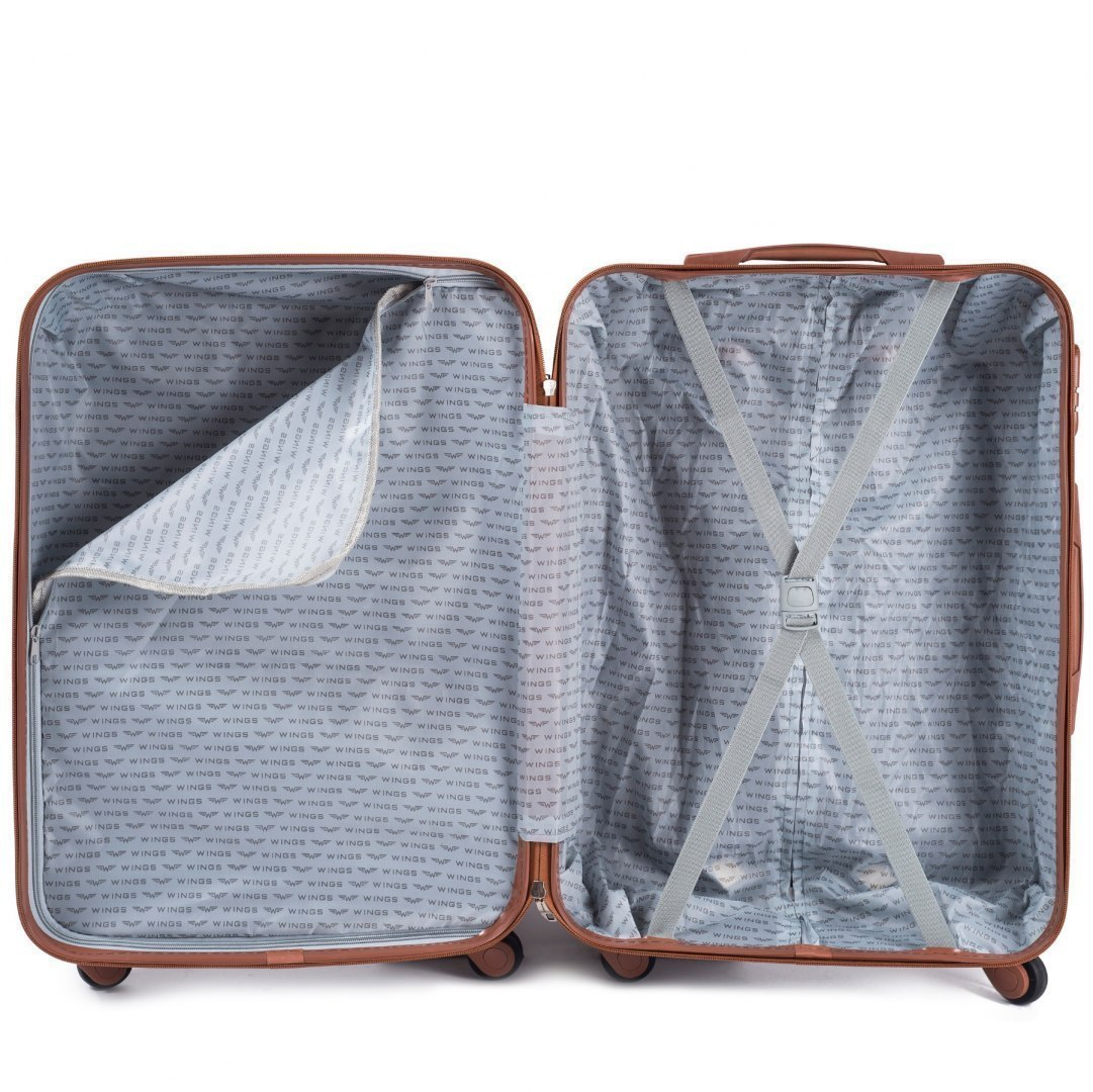 402, Large travel suitcase Wings L, Silver white