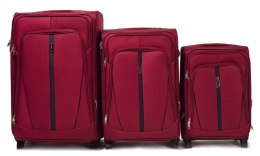 1706(2), Sets of 3 suitcases Wings 2 wheels L,M,S, Double red