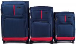 206(2), Sets of 3 suitcases Wings 2 wheels L,M,S, Blue