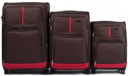 206(2), Sets of 3 suitcases Wings 2 wheels L,M,S, Coffee