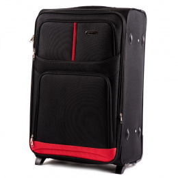 206(2), Large soft travel suitcase 2 wheels Wings L, Black