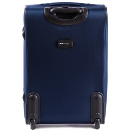 206(2), Large soft travel suitcase 2 wheels Wings L, Blue