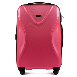 518, Middle size suitcase Wings M, Rose red