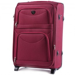6802(2), Large soft travel suitcase 2 wheels Wings L, Double red