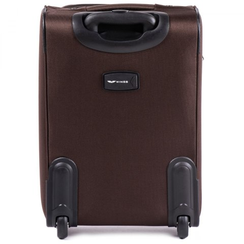 206(2), Cabin soft travel suitcase 2 wheels Wings S, Coffee