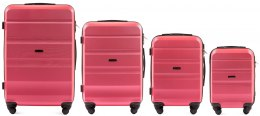 AT01, Luggage 4 sets (L,M,S,XS) Wings, Rose red
