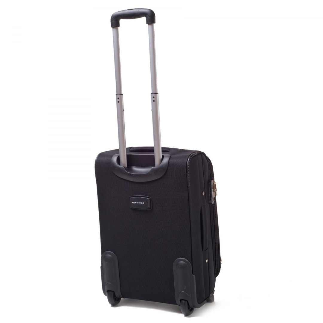 1706(2), Cabin soft travel suitcase 2 wheels Wings S, Black