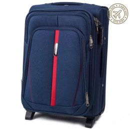 1706(2), Cabin soft travel suitcase 2 wheels Wings S, Blue