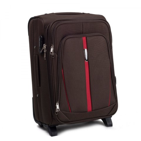 1706(2), Cabin soft travel suitcase 2 wheels Wings S, Coffee