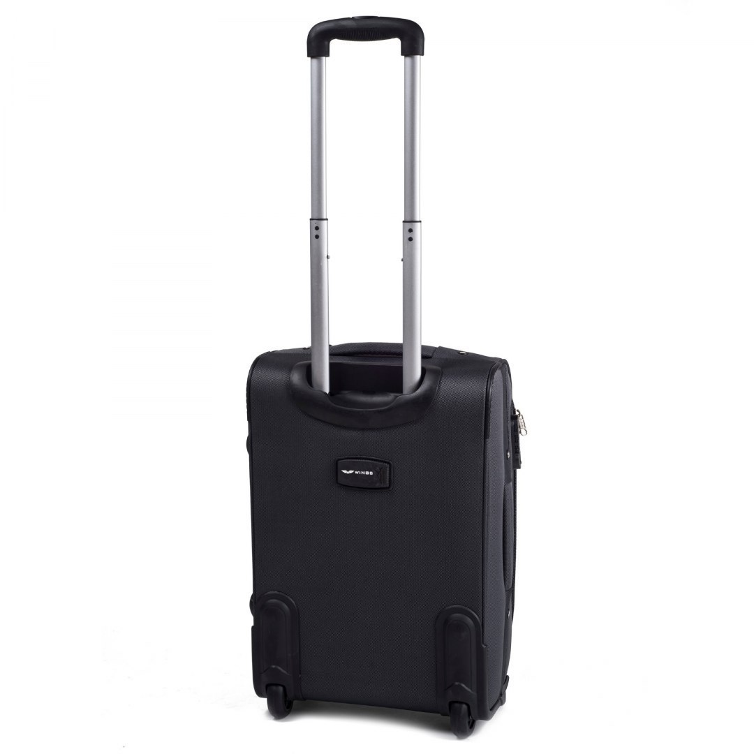 1706(2), Cabin soft travel suitcase 2 wheels Wings S, Dark grey