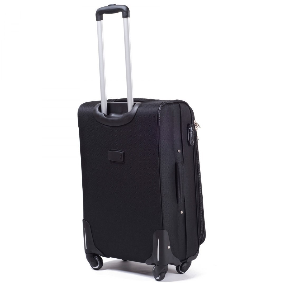 1706(4), Cabin soft travel suitcase 4 wheels Wings S, Black