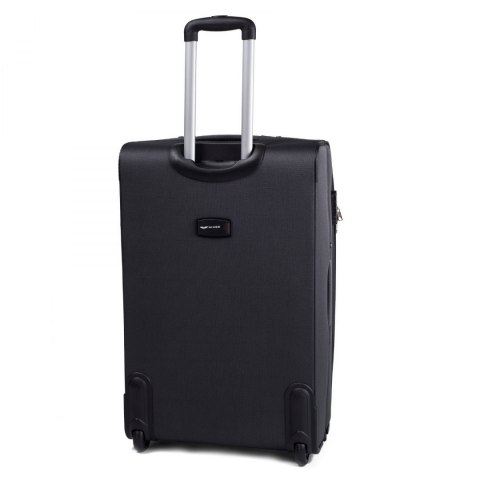 1706(2), Large soft travel suitcase 2 wheels Wings L, Dark grey
