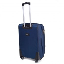 1708(4), Large soft travel suitcase 4 wheels Wings L, Blue