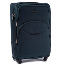 1708(4), Large soft travel suitcase 4 wheels Wings L, Dark green