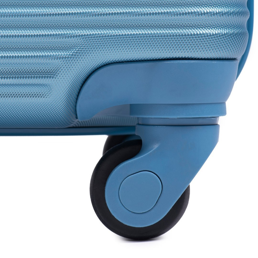 203, Large travel suitcase Wings L, Middle Blue