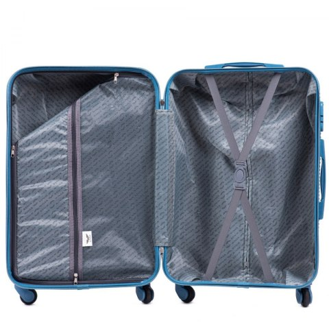 203, Middle size suitcase Wings M, Silver