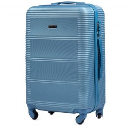 203, Middle size suitcase Wings M, Silver blue