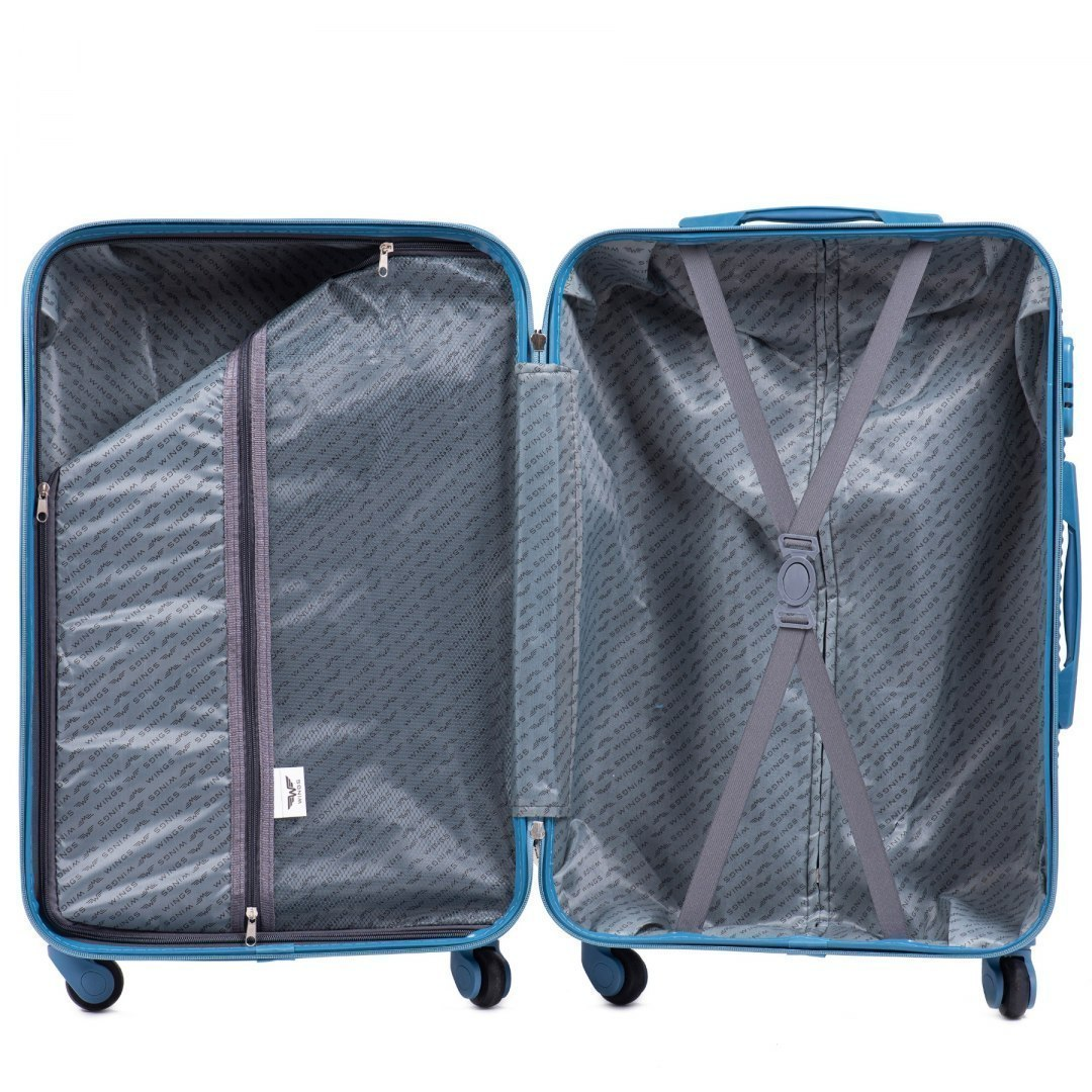 203, Cabin suitcase Wings S, Silver blue