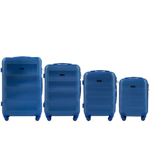 203, Luggage 4 sets (L,M,S,XS) Wings, Middle Blue