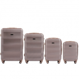 203, Luggage 4 sets (L,M,S,XS) Wings, Champagne