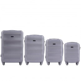 203, Luggage 4 sets (L,M,S,XS) Wings, Silver