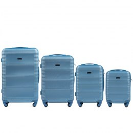 203, Luggage 4 sets (L,M,S,XS) Wings, Silver blue