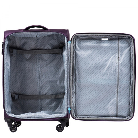 2861, Sets of 3 suitcases Super light Wings 4 wheels L,M,S, Dark purple