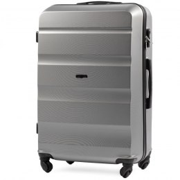 AT01, Large travel suitcase Wings L, Silver
