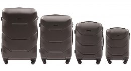147, Luggage 4 sets (L,M,S,XS) Wings, Dark grey