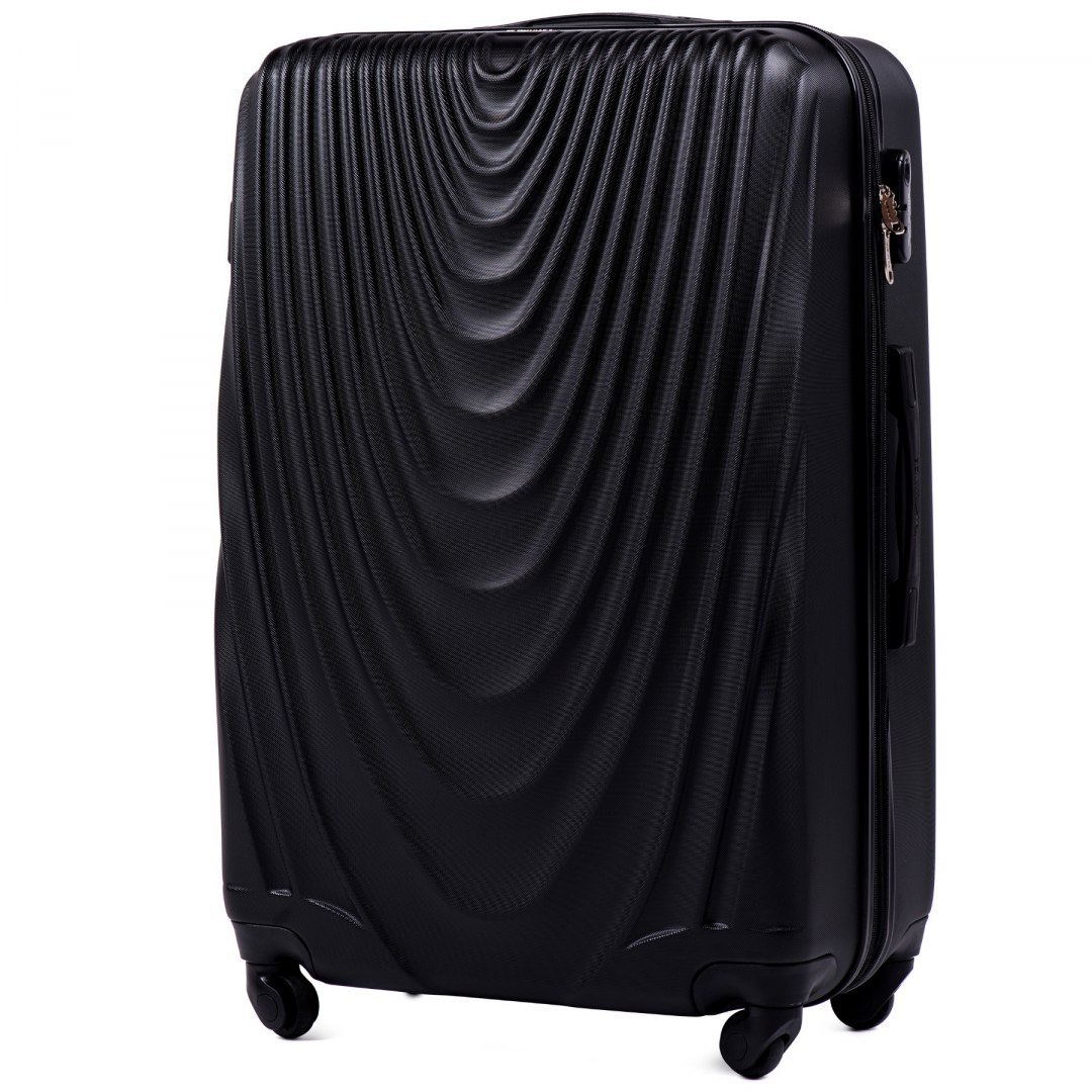 304, Large travel suitcase Wings L, Black