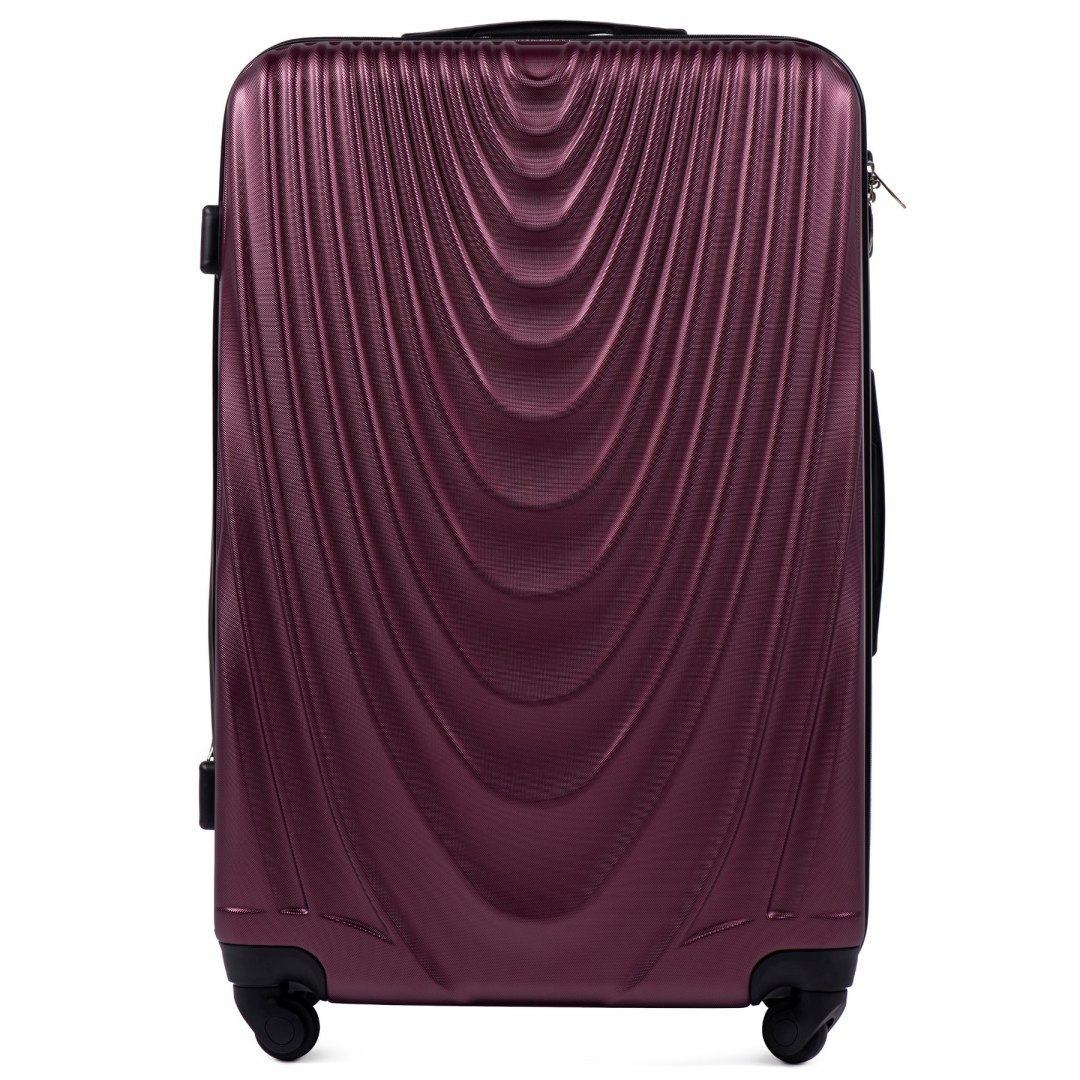 304, Large travel suitcase Wings L, Burgundy