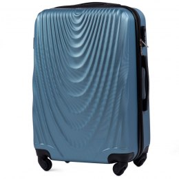 304, Middle size suitcase Wings M, Silver blue