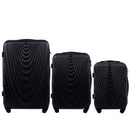 304, Luggage 3 sets (L,M,S) Wings, Black