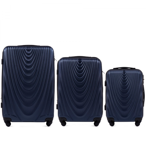 304, Luggage 3 sets (L,M,S) Wings, Blue