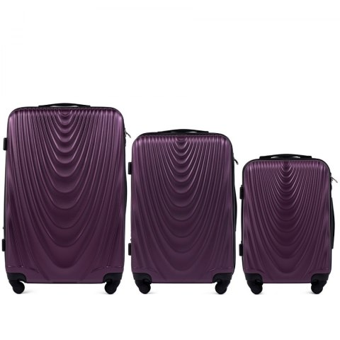 304, Luggage 3 sets (L,M,S) Wings, Dark purple
