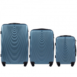 304, Luggage 3 sets (L,M,S) Wings, Silver blue