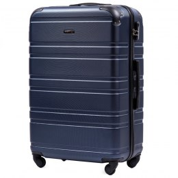 608, Large travel suitcase Wings L, Dark blue